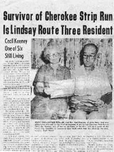 Cecil Keeney newspaper article